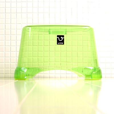 風呂椅子角 CL「アンティクリスタル」(Mサイズ/グリーン)