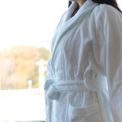 バスローブ「BATHLIER Robe/今治タオルの白いバスローブ」【バスリエ(BATHLIER)オリジナル】