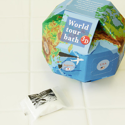 入浴剤「ワールドツアーバス」バスソルト25g×7種セット