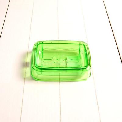 石鹸台 S「アンティクリスタル」(グリーン)