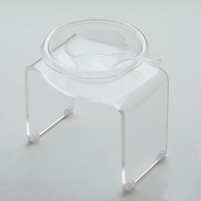 バス3点セット「KASUMI(霞)」アクリルバスチェア&洗面器&手桶けセット(クリア)【バスリエ(BATHLIER)オリジナル】