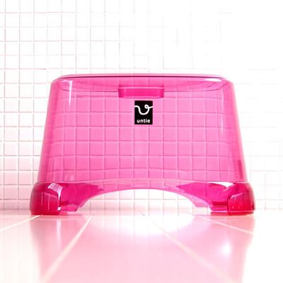 風呂椅子角 CL「アンティクリスタル」(Mサイズ/ピンク)